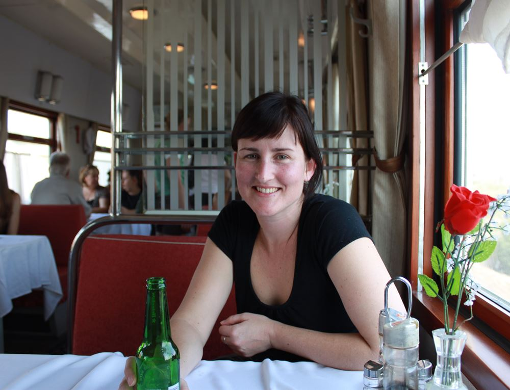 Dining on the Trans Siberian Railway