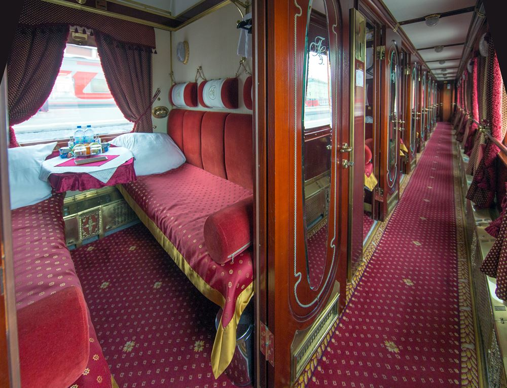 Tsar's Gold 2-berth Superior cabin converted for sleeping