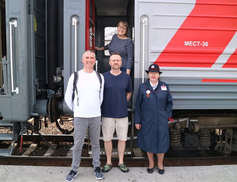 All aboard the Trans Siberian Railway!